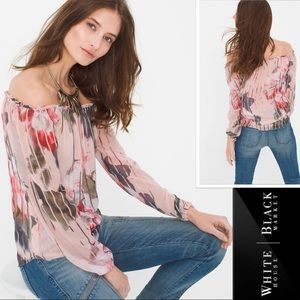 WHBM Floral Off-Shoulder Top